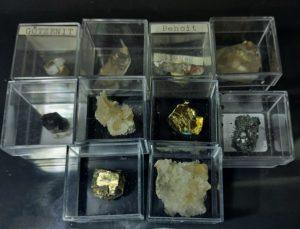 Diverse små mineraler